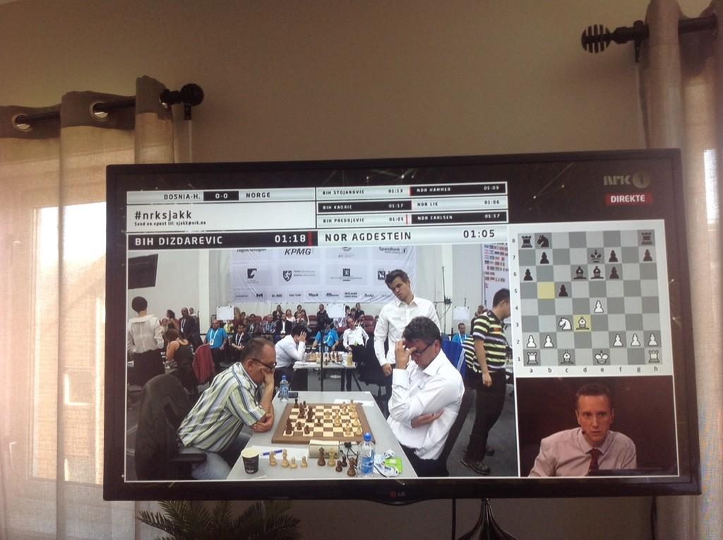 Chess on Norwegian TV